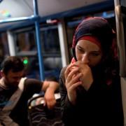 Profughi siriani in viaggio verso Germania e Austria