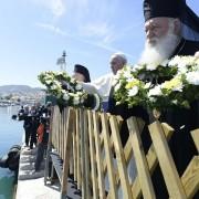 Papa Francesco a Lesbo