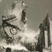 Crollo della torre campanaria a Majano