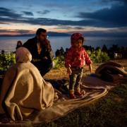 Rifugiati sull'isola di Lesbo