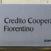 La sede del Credito Cooperativo Fiorentino a Firenze la banca del coordinatore del PDL Denis Verdini (ANSA CARLO FERRARO)