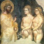 Guariento di Arpo (1347),  Creazione di Adamo ed Eva - Padova nella Loggia dei Carraresi.