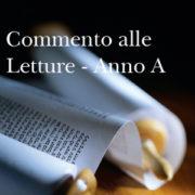 Commento letture anno A