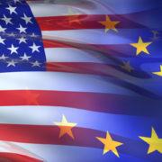 bandiere USA e Europa