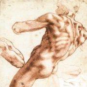 Michelangelo, disegno, corpo di uomo