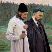 M. Nesterov, Filosofi (Florenskij e Bulgakov), 1917