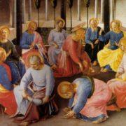 Su disegno del Beato Angelico, Lavana dei piedi , Armadio degli argenti (1451-1453), Firenze, Museo nazionale di San Marco