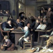 Jan Steen, School class with a sleeping schoolmaster, 1672