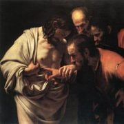 Caravaggio, Incredulità di Tommaso