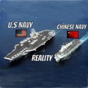 American and the Chinese navies