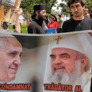 papa romania proteste